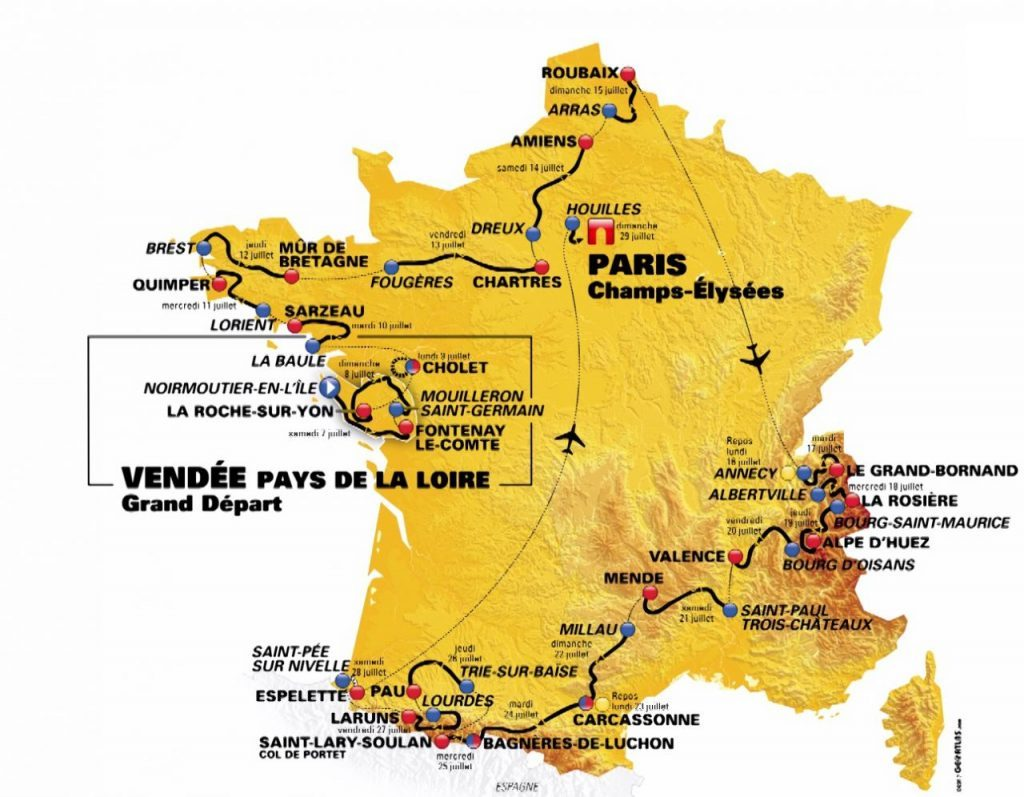 streckenplan tour de france 2019