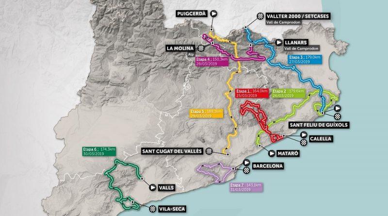 Le parcours complet du Tour de Catalogne