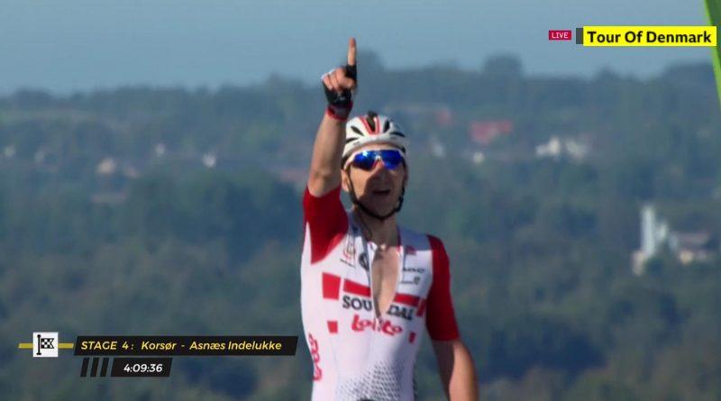 Tour du Danemark étape 4: Jasper De Buyst s'impose, Niklas Larsen toujours leader